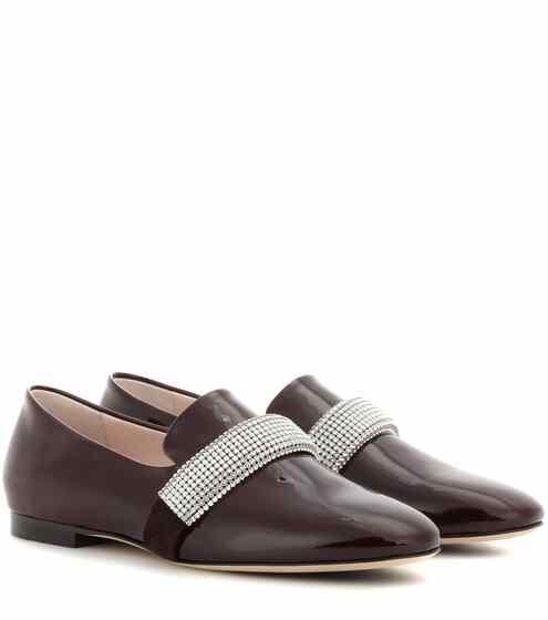 Christopher Kane Verzierte Loafers aus Lackleder