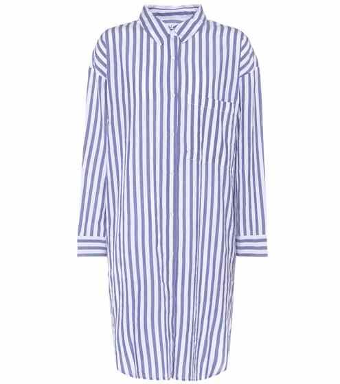 Velvet Gestreiftes Hemdblusenkleid aus Baumwolle