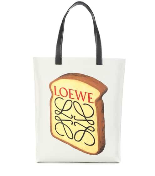 Loewe Tote Toast aus Canvas