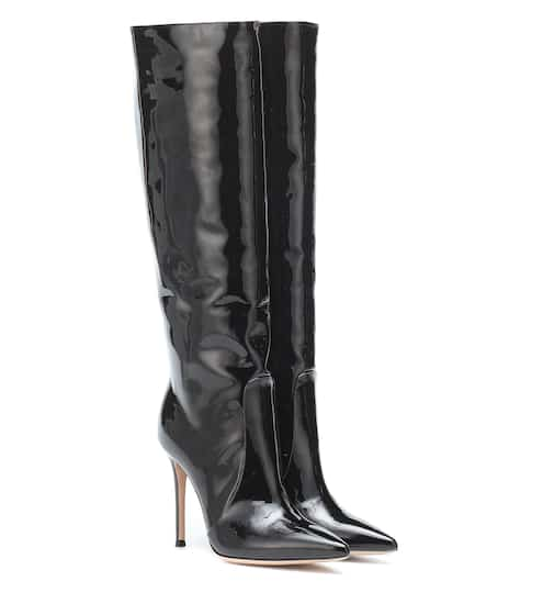 d050e1e730 Heather 105 black patent leather boots | Gianvito Rossi