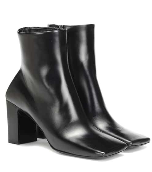 발렌시아가 더블 스퀘어 앵클 부츠 - 블랙 Balenciaga Double Square leather ankle boots