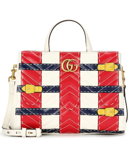 Gucci GG Marmont Trompe l'oeil leather shoulder bag
