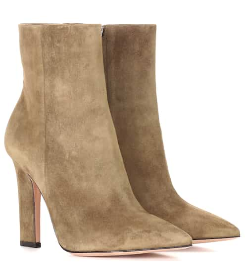Gianvito Rossi Ankle Boots Daryl aus Veloursleder