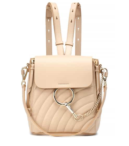 클로에 Chloe Faye quilted leather backpack