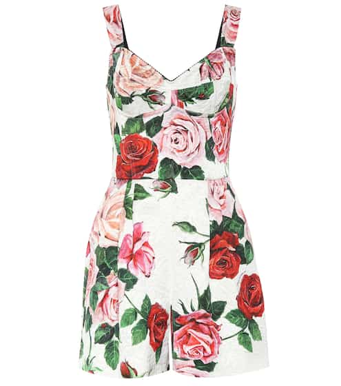 Printed floral playsuit by Dolce & Gabbana, available on mytheresa.com for EUR734 Bella Hadid Dress SIMILAR PRODUCT