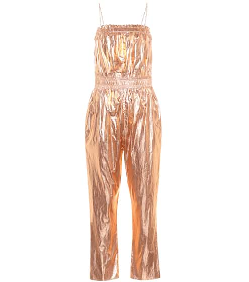이자벨 마랑 Isabel Marant Timi metallic cotton jumpsuit