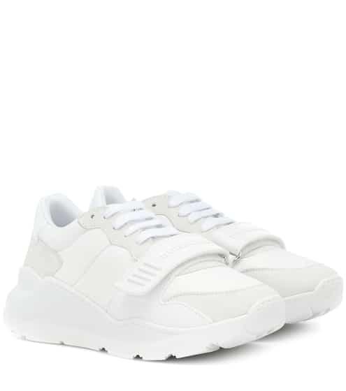 버버리 Burberry Suede leather and neoprene sneakers
