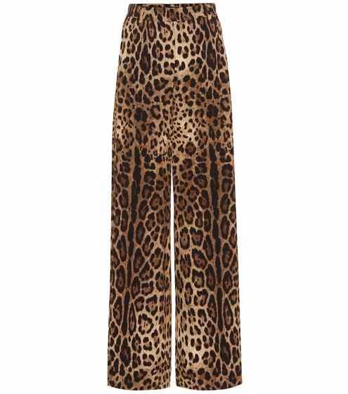 b4a3e9e0f500 Pantaloni culottes a stampa animalier | Dolce & Gabbana