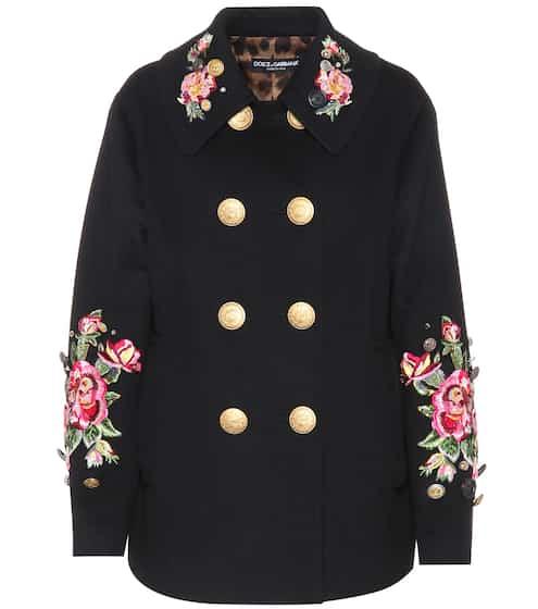 Dolce & Gabbana Verzierte Jacke aus Wolle und Angora