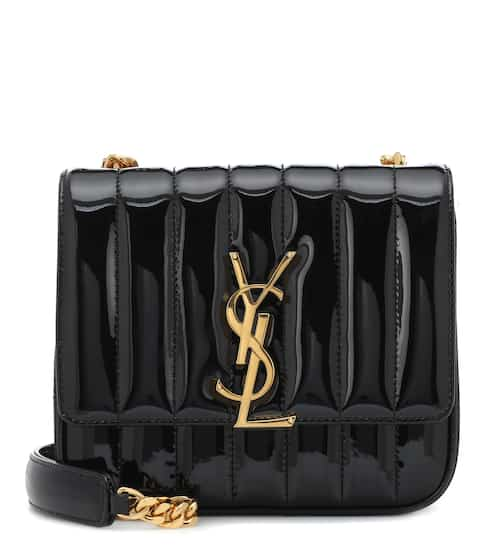 18 F/W 생 로랑 비키백 스몰 블랙 Saint Laurent Small Vicky leather shoulder bag