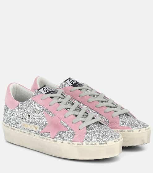 골든구스 Golden Goose Hi Star glitter sneakers