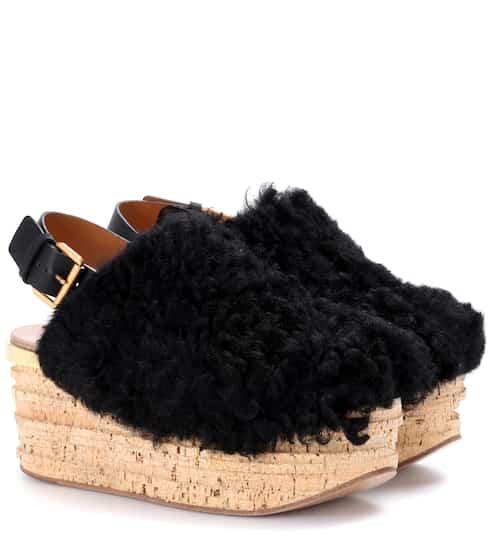 Womens Shoes COACH Amelia Black Shearling