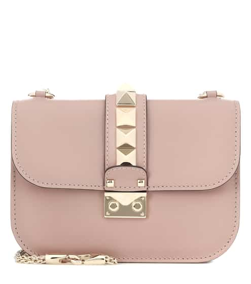 d45456ca0e577 Valentino Garavani Lock Small leather shoulder bag