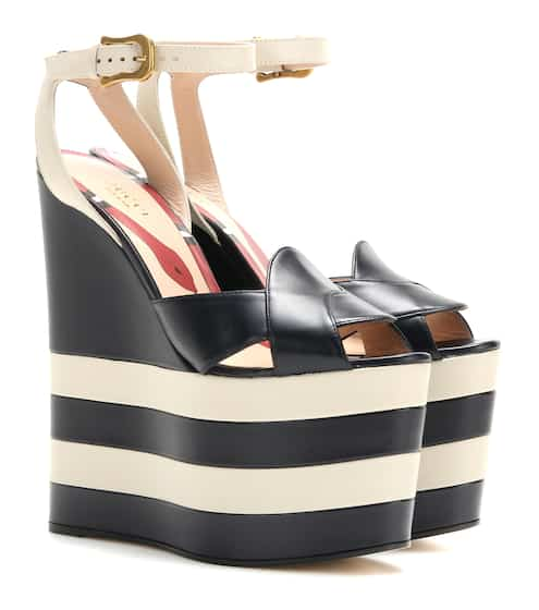 e9bf368893b Gucci Leather Platform Wedges
