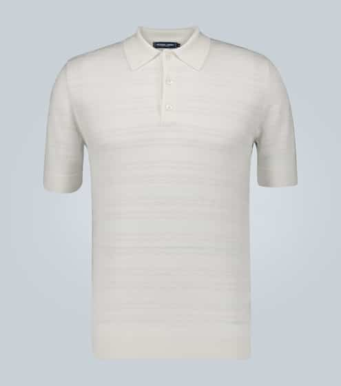 프레스코볼 카리오카 폴로 셔츠 Frescobol Carioca Merino wool perforated polo shirt