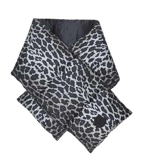 몽클레어 레오파드 패딩 머플러 Moncler Leopard-print down scarf