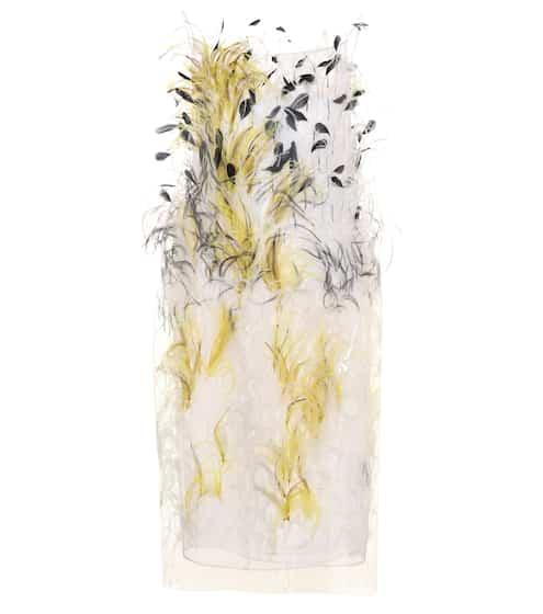 Calvin Klein 205W39NYC Verziertes Kleid aus Seide