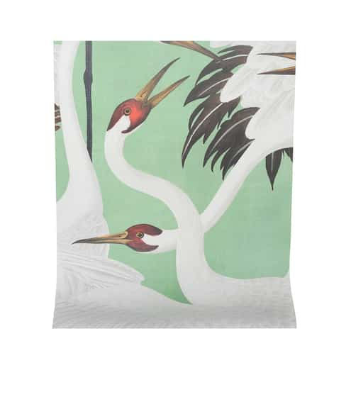 구찌 Gucci Heron printed wallpaper