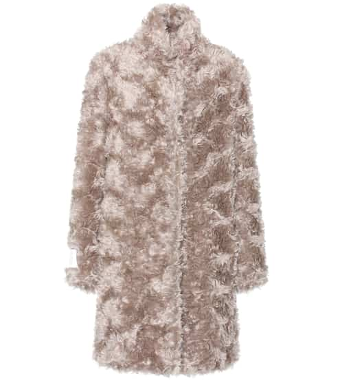 Stella McCartney Faux-Fur-Mantel mit Mohair