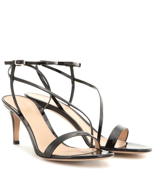 Gianvito Rossi Sandalen Carlyle Mid aus Lackleder
