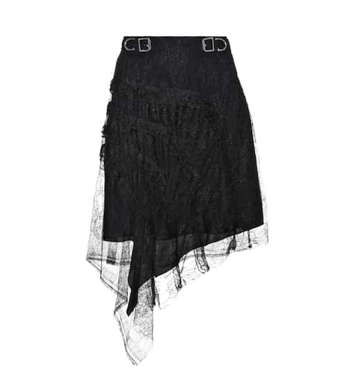 Carven Asymmetrical lace skirt