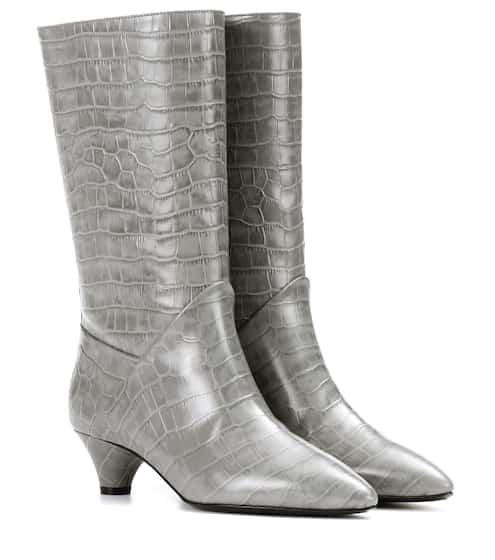 Marni Stiefel aus geprägtem Kalbsleder