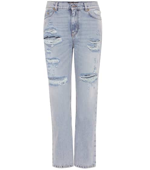 Dolce & Gabbana Embellished distressed jeans