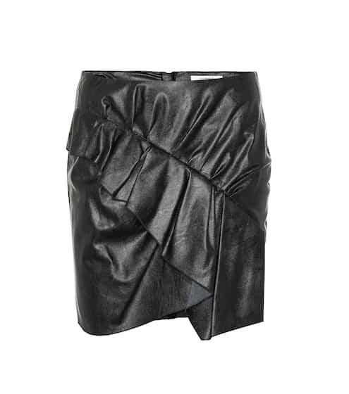 이자벨 마랑 Isabel Marant, EEtoile Zeist ruffled faux leather skirt