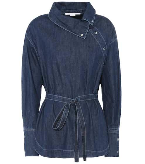 Stella McCartney Denimbluse aus Baumwolle