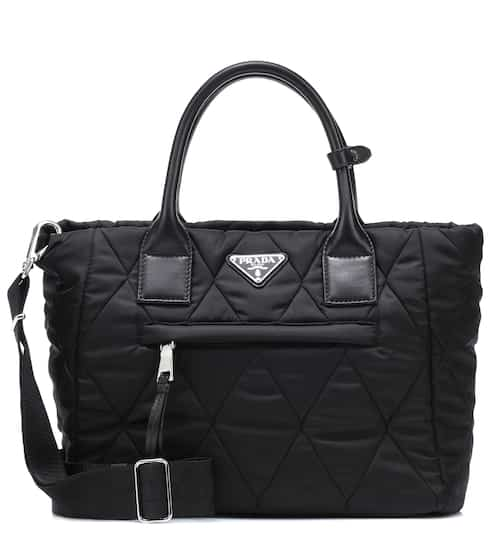 Quilted Nylon Tote Prada