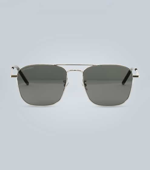 생 로랑 Saint Laurent Rectangular metal sunglasses
