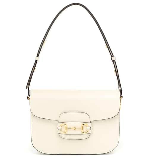 구찌 1955 홀스빗백 - 미스틱 화이트 (슬기 착용) Gucci 1955 Horsebit leather shoulder bag