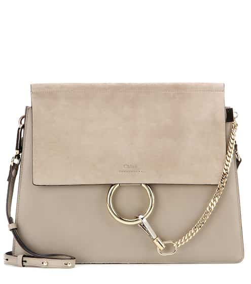 Faye Leather And Suede Shoulder Bag Chloé