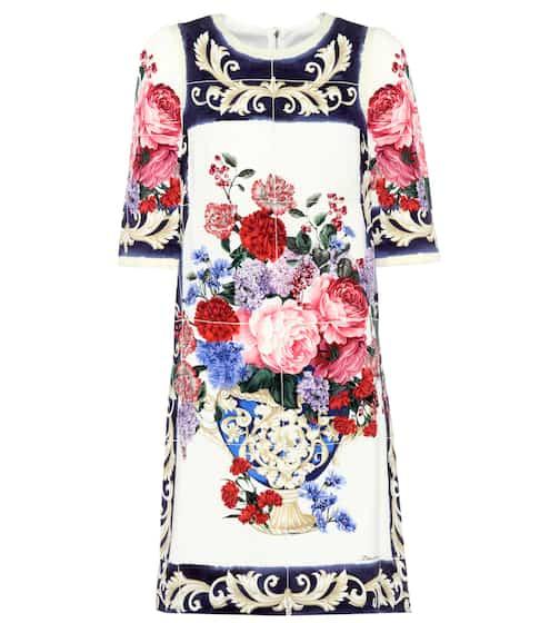 Dolce & Gabbana Bedrucktes Kleid aus Stretch-Seide