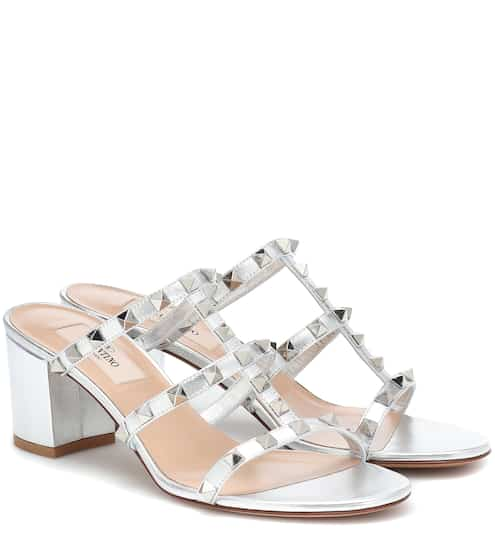9ca270b79 Valentino Garavani Rockstud Spike leather sandals