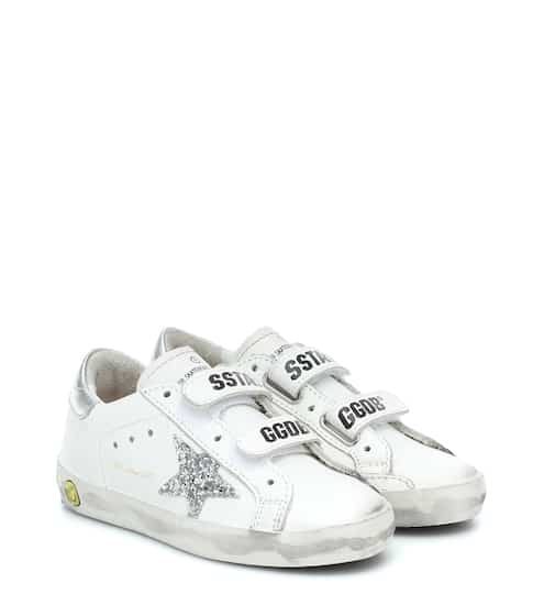 골든구스 Golden Goose Kids Old School leather sneakers