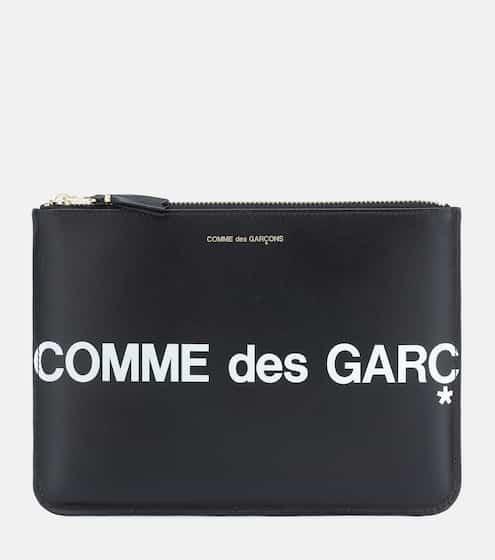 꼼데가르송 로고 파우치 Comme Des Garcons Wallet Huge Logo Large leather pouch