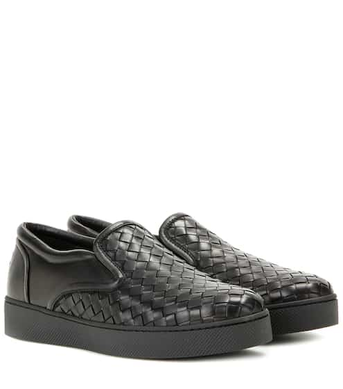 Slip on Sneakers for Women On Sale, Black, Leather, 2017, 3.5 Fendi