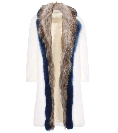 Dries Van Noten Mantel aus Faux Fur