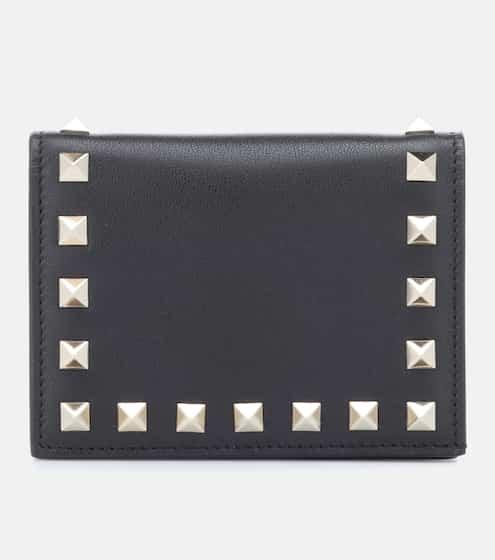 발렌티노 반지갑 Valentino Garavani Rockstud leather wallet