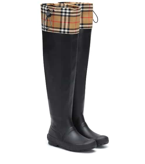 755b78438533 Check and rubber boots