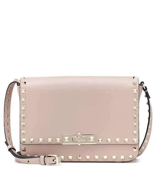 d18cccda48 Valentino Valentino Garavani Rockstud Satchel Leather Shoulder Bag
