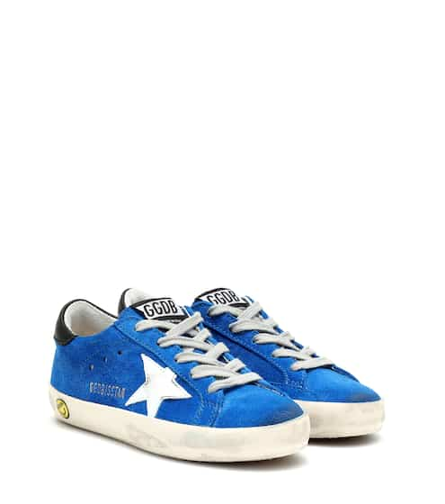 골든구스 Golden Goose Kids Superstar suede sneakers