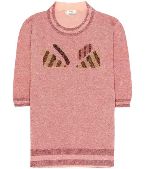 Fendi Pullover aus Wolle und Metallic-Garn