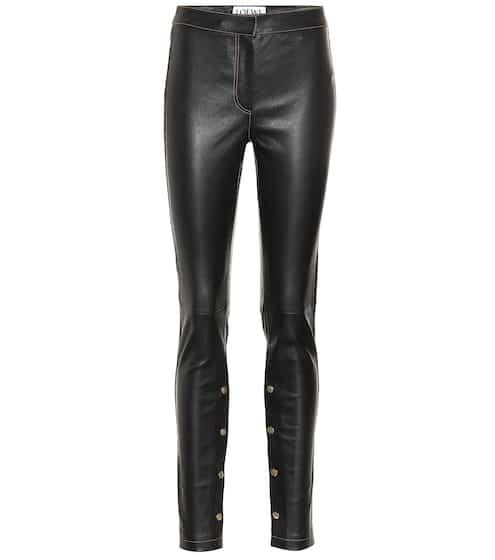 로에베 LOEWE Stretch leather pants