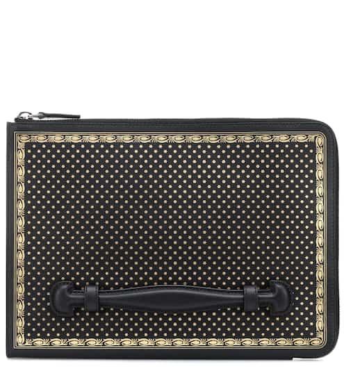구찌 'Guccy' 로고 가죽 랩탑 케이스 Gucci Guccy leather laptop case