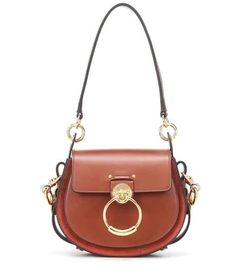 끌로에 테스백 스몰 - 세피아 브라운 Chloe Tess Small leather shoulder bag