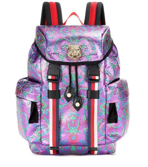Gucci Rucksack Techpack aus Brokat