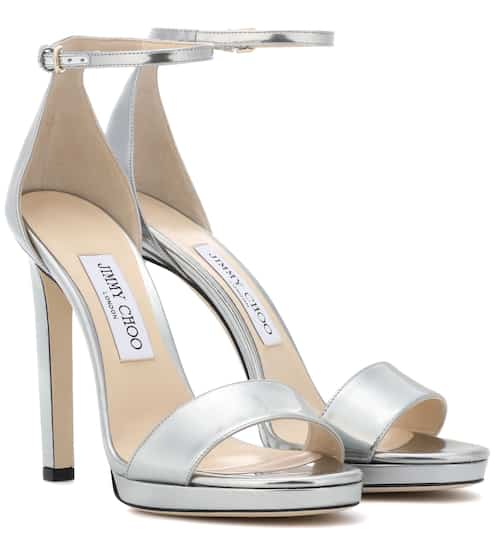 2cd443b02d3 Jimmy Choo Misty 120 Leather Sandals from mytheresa - Styhunt