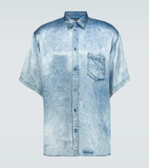 발렌시아가 데님 이펙트 셔츠 Balenciaga Denim effect short-sleeved shirt